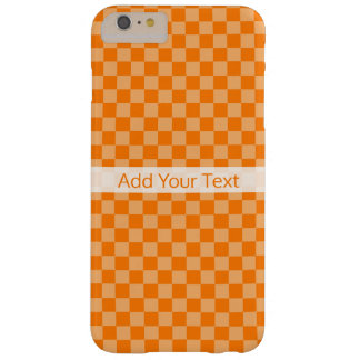 Orange Combination Checkerboard by Shirley Taylor Barely There iPhone 6 Plus Case