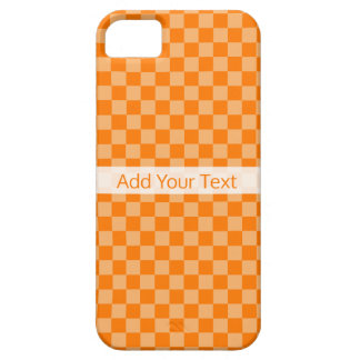 Orange Combination Checkerboard by Shirley Taylor iPhone 5 Covers