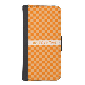 Orange Combination Checkerboard by Shirley Taylor iPhone SE/5/5s Wallet Case