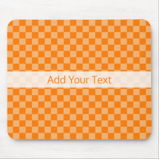 Orange Combination Checkerboard by Shirley Taylor Mouse Pad