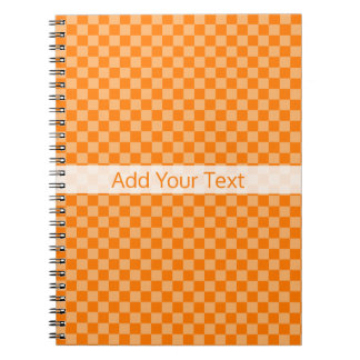 Orange Combination Checkerboard by Shirley Taylor Notebooks