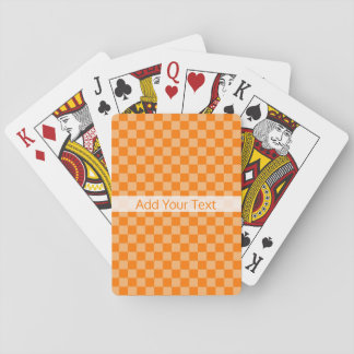 Orange Combination Checkerboard by Shirley Taylor Playing Cards