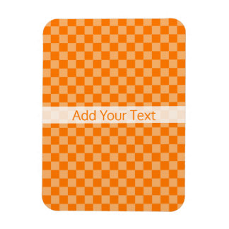 Orange Combination Checkerboard by Shirley Taylor Rectangular Photo Magnet