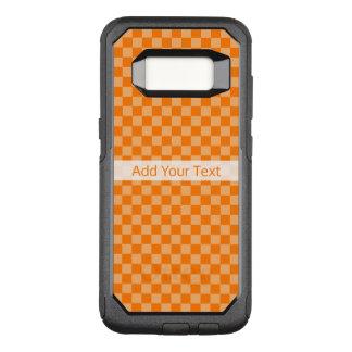Orange Combination  Checkerboard by ShirleyTaylor OtterBox Commuter Samsung Galaxy S8 Case