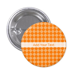 Orange Combination Diamond Pattern by STaylor 3 Cm Round Badge