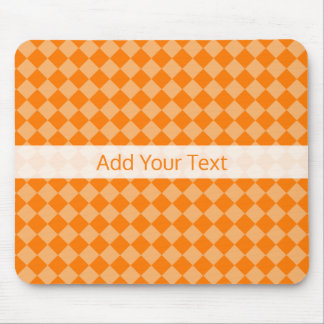 Orange Combination Diamond Pattern by STaylor Mouse Mat