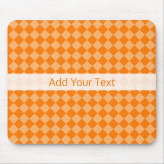 Orange Combination Diamond Pattern by STaylor Mouse Pad