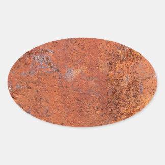 Orange Concrete Oval Sticker