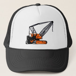 Orange Construction Crane Trucker Hat