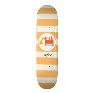 Orange Construction Toy Backhoe Skate Board Decks