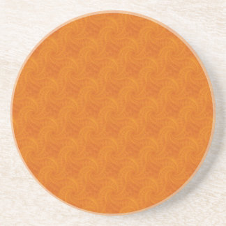 Orange Contrail Spiral Coaster