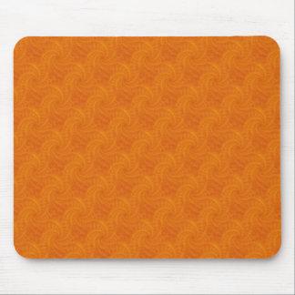 Orange Contrail Spiral Mousepad