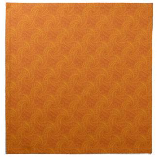 Orange Contrail Spiral Napkins