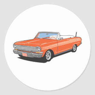 Orange Convertible Round Sticker
