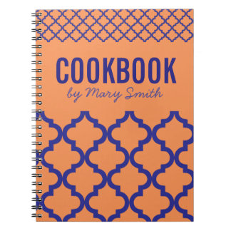 Orange CookBook With Custom Cover Notebook