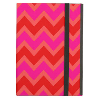 Orange | Coral | Hot Pink Chevron Zigzag Pattern Cover For iPad Air
