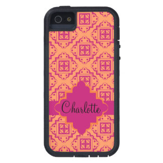 Orange Coral & Magenta Arabesque Moroccan Graphic Case For The iPhone 5