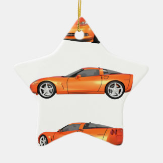 Orange Corvette: Christmas Ornament
