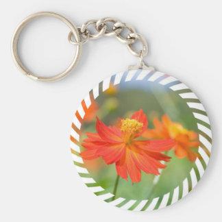 Orange Cosmos Keychain