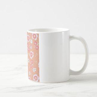 orange country flowers basic white mug