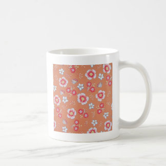 orange country flowers basic white mug