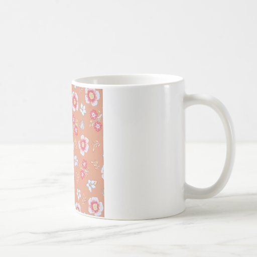 orange country flowers mug