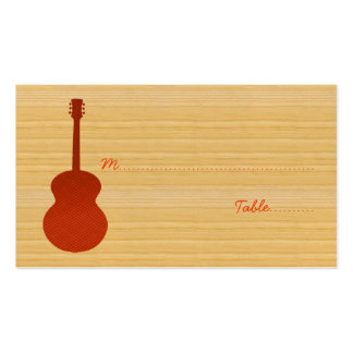 Orange Country Guitar Place Card Business Card Template