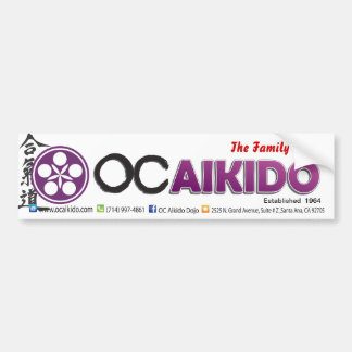 Orange County Aikido Bumper Stickers