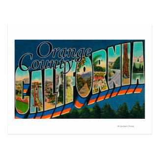 Orange County, California - Large Letter Scenes Postcard