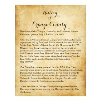 Orange County History 21.5 Cm X 28 Cm Flyer