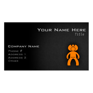 Orange Cowboy Double-Sided Standard Business Cards (Pack Of 100)