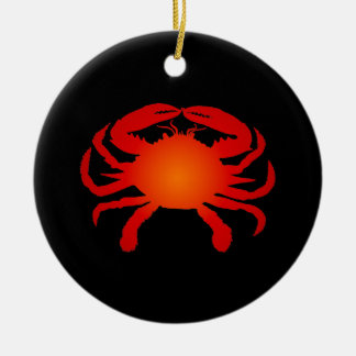 Orange Crab Christmas Ornament