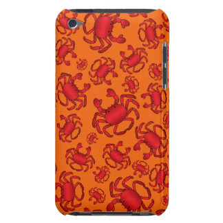 Orange crab pattern iPod touch cases