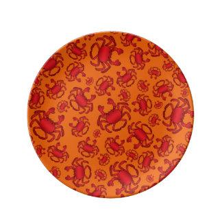 Orange crab pattern plate