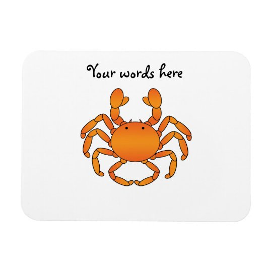Orange crab rectangular photo magnet