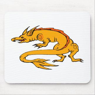 Orange Crawling Dragon Mouse Pads