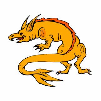 Orange Crawling Dragon Photo Sculptures
