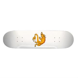 Orange Crawling Dragon Skate Deck