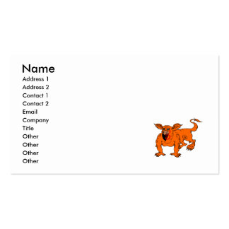 Orange Crawling Silly Dragon Business Cards