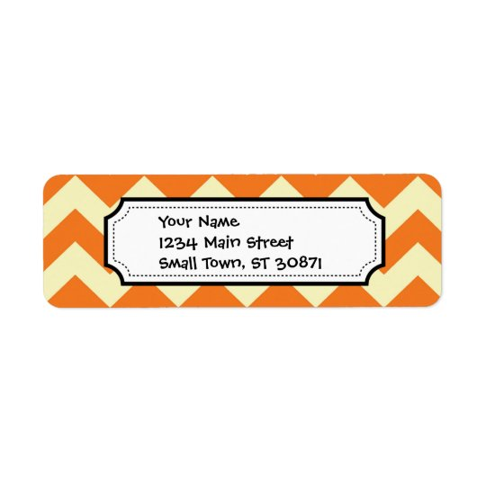 Orange Cream Citrus Chevron ZigZag Stripes Gifts