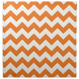 Orange Cream Citrus Chevron ZigZag Stripes Gifts Napkin