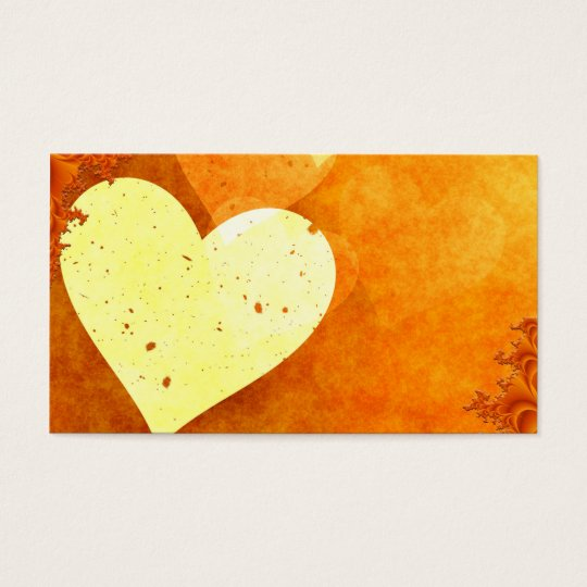 ORANGE CREAM HEATS LOVE DIGITAL BACKGROUNDS WALLPA BUSINESS CARD