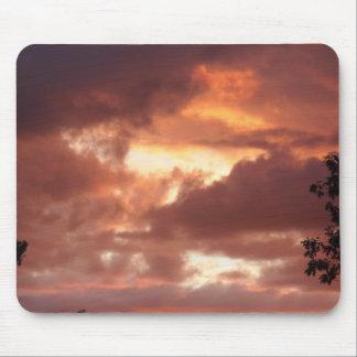 orange cream sky mouse mat