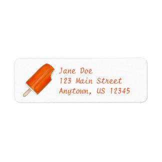 Orange Creamsicle Popsicle Return Address Labels