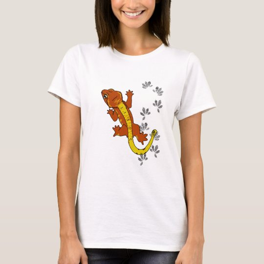 Orange crestie footprints (shirt) T-Shirt