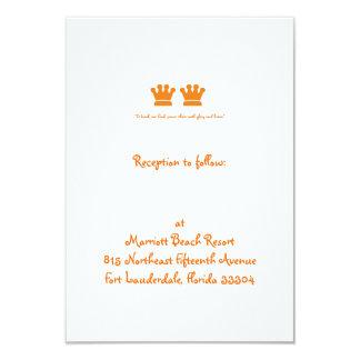 Orange Crowns Reception Personalized Announcement