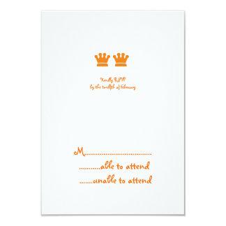 Orange Crowns RSVP Custom Announcement