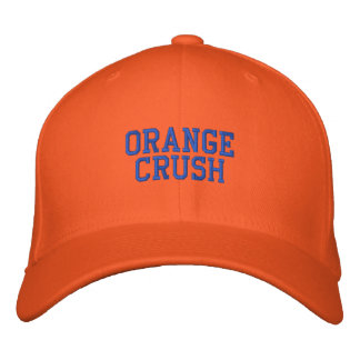 ORANGE CRUSH EMBROIDERED HAT