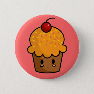 Orange Cupcake Button