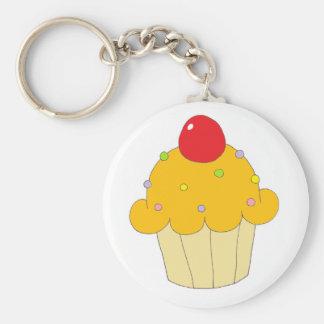Orange Cupcake Key Ring